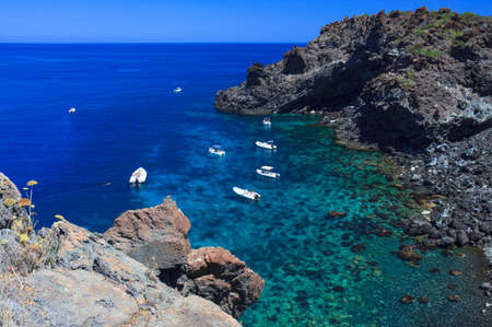View of Pantelleria coast famous island in Sicily Imagens