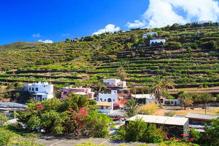 View of houses in Gadir, Pantelleria. Sicily
