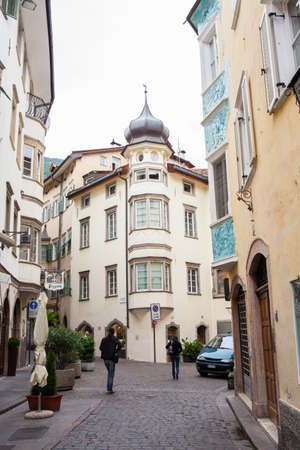 sudtirol: View of buildings in the street, Bolzano Editorial