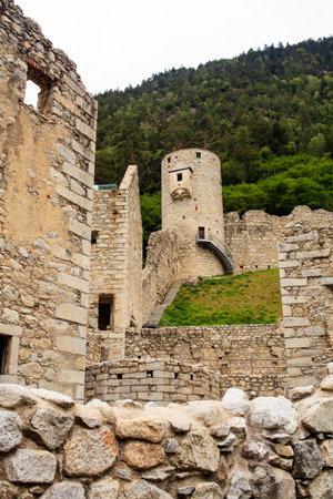 View of the fortress Chiusa di Rio Pusteria