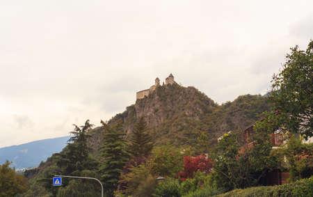 sud tirol: View of S�ben Abbey, Benedictine nunnery in Trentino Alto Adige, Italy