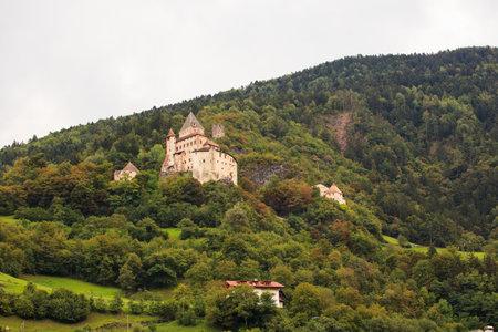 forte: View of Castel Forte in the mountain, Trentino Alto Adige Editorial