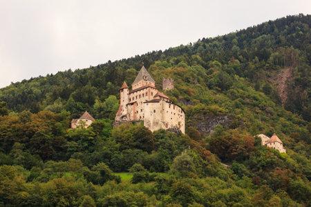 sud tirol: View of Castel Forte in the mountain, Trentino Alto Adige Editorial