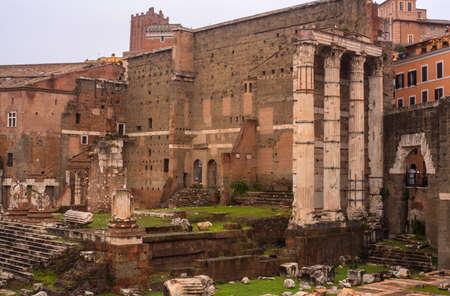 Vue de Forums Impériaux, le Forum d'Auguste à Rome, Italie