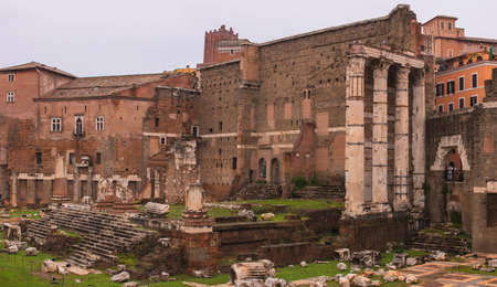 View of Imperial Fora, Forum of Augustus in Rome, Italy photo