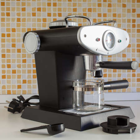 coffeemaker: View of coffee Maker in the kitchen Stock Photo