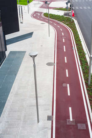 View of new bike path in Milan photo