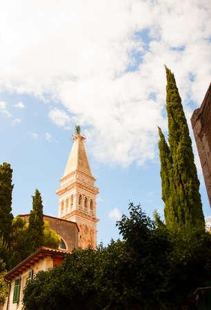 View of Saint Euphemias basilica in Rovinj, Istria - Croatia photo