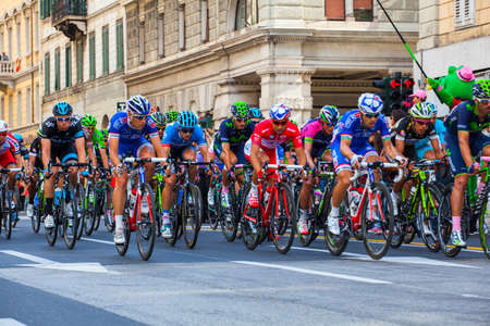 trieste: TRIESTE, ITALY -  JUNE, 01: Cyclist during the final parade of 97th edition of the Giro dItalia on November 01, 2014