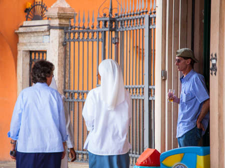 nuns: PADOVA, ITALY - AUGUST, 24: View nuns in the street on August 24, 2014