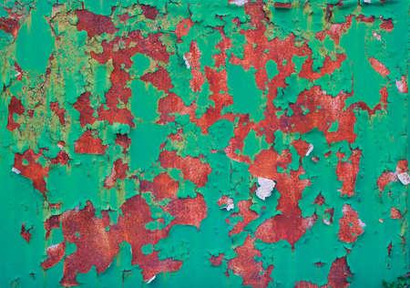 Close up of oxidised iron of door photo