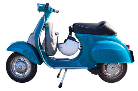 Vespa Italian scooter isolated on white background Foto de archivo