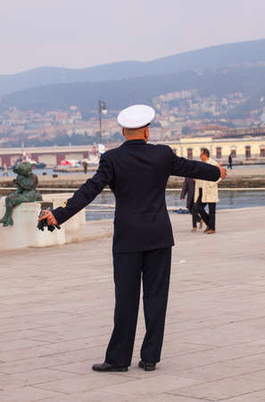 admiral: TRIESTE, ITALY - NOVEMBER 02: View of counter admiral of the Italian Navy on November 02, 2014