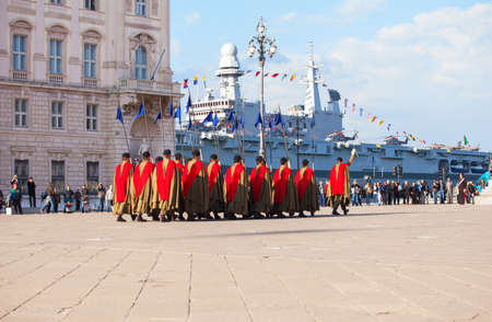 TRIESTE, ITALY - NOVEMBER, 04: Celebrations for the 4th of November, National Unification and Armed Forces' Day, on November 04, 2014