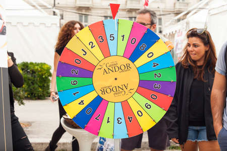 barcolana: TRIESTE, ITALY - OCTOBER, 10: View of wheel of Fortune in the Trieste street during the 46th Barcolana on October 10, 2014 Editorial