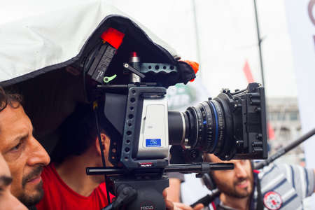 film crew: During the production Stock Photo