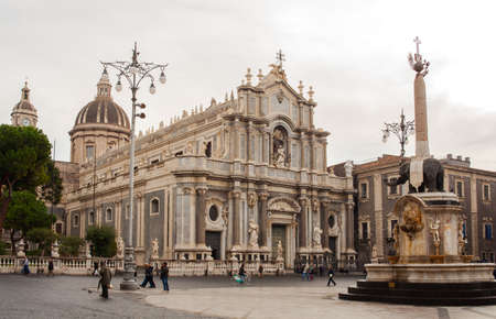 santagata: View of Catania cathedral and Elefant fountain