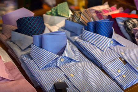 Male shirts Banque d'images