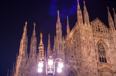 nightview: Nightview of Duomo of Milan, the Milan cathedral