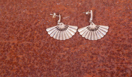 manufactured: Close up of silver earrings, manufactured by Ornella Salamone