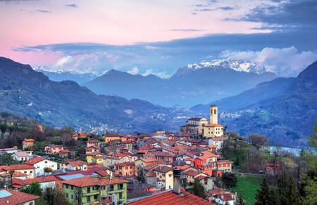 dei: View of Parrocchia dei SS. Martino e Materno, Corrido. Como, Italy