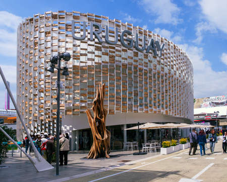 the world expo: MILAN, ITALY - MAY, 20: Uruguay pavilion at Expo, universal exposition on the theme Feeding the planet, Energy for life on May 20, 2015 in Milan