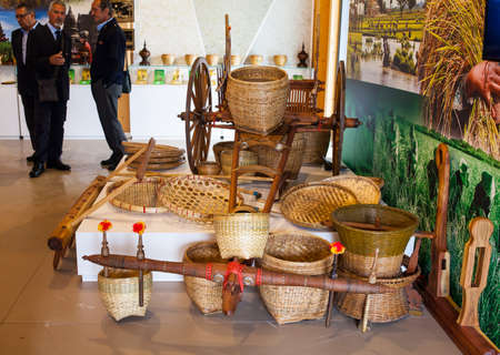 the world expo: MILAN, ITALY - MAY, 20: View of tools in the Rice cluster at Expo, universal exposition on the theme Feeding the planet, Energy for life on May 20, 2015 in Milan
