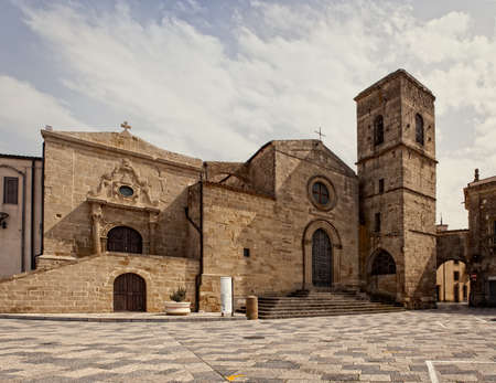 eclectic: View of the San Leone Basilica of Assoro, Sicily. Italy