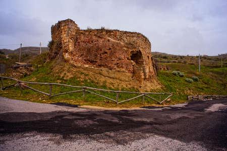 old  ruin: View of old ruin near Leonforte, Sicily