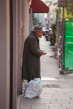 oap: MILAN, ITALY - JUN, 21: Mime during a performance in the street on Jun 21, 2015 Editorial