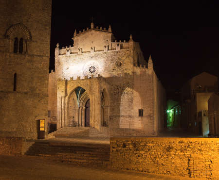 erice: View of Duomo dell'Assunta, Mother church of Erice Trapani
