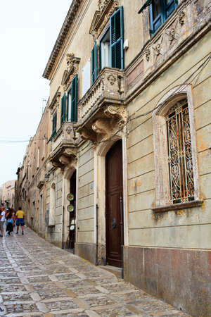 elymian: ERICE, ITALY - AUGUST 05: View of Erice street. Erice the city of 100 churches on August 05, 2015