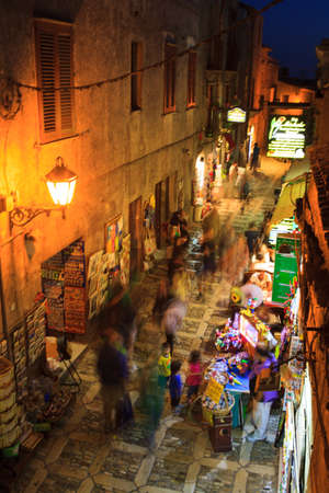 elymian: ERICE, ITALY - AUGUST 05: View of Erice alleyway. Erice the city of 100 churches on August 05, 2015