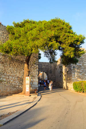 elymian: ERICE, ITALY - AUGUST 05: View of the entrance of punic fortification called Porta Trapani on August 05, 2015