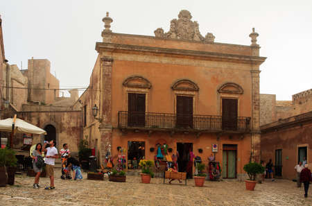 elymian: ERICE, ITALY - AUGUST 05: Piazza della Loggia on August 05, 2015