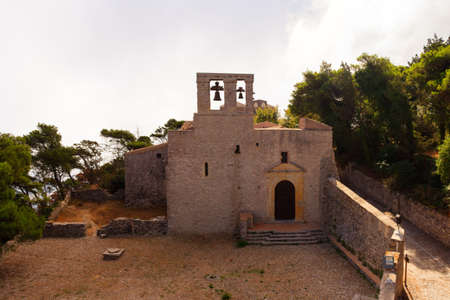 erice: View of the SantOrsola Chuch in Erice, Trapani Stock Photo