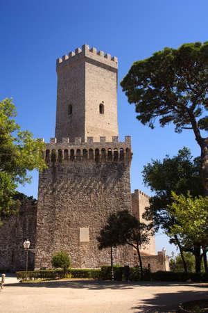 norman castle: View of the Norman castle called Torri del Balio, Erice