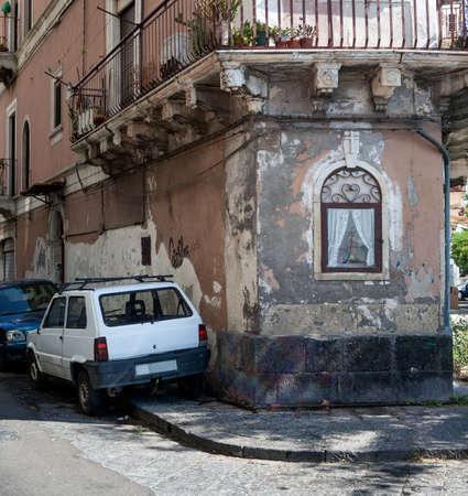 cappella: View of the cappella votiva, christian chapel in Catania