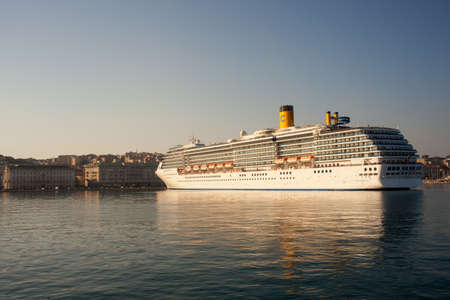 docked: View of cruise ship docked in Trieste