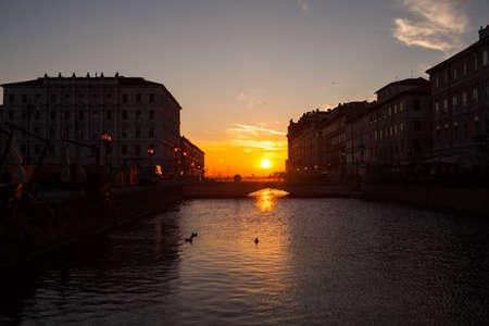 ponte: View of Ponte rosso on the canal grande, Trieste