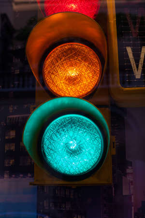 dont walk: Close up of traffic light Stock Photo