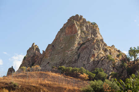 sicily: View of hill in Sicily, Italy Stock Photo