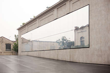 prada: MILAN, ITALY - SEPTEMBER, 13: View of Fondazione Prada on September 13, 2015