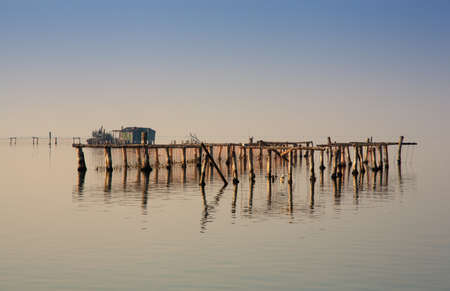 pile dwelling: View of Chioggia in the Venice lagoon Stock Photo
