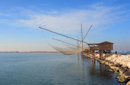 pile dwelling: Casoni, ancient stilt house of fisher man in Sottomarina. Chioggia