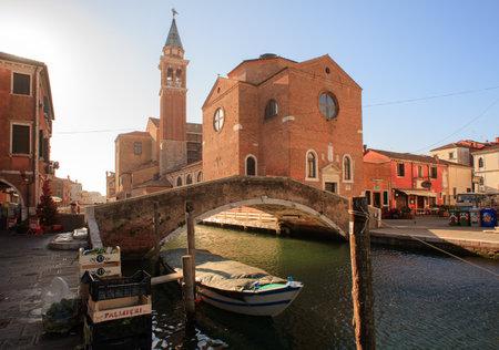 san giacomo: CHIOGGIA, ITALY - DECEMBER, 30: View of the San Giacomo church on December 30, 2015