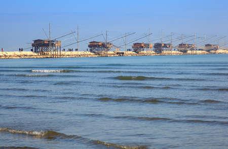 stilt house: Casoni, ancient stilt house of fisher man in Sottomarina. Chioggia