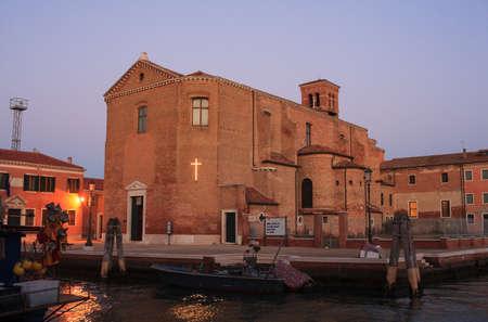 san giacomo: View of the San Giacomo church, Chioggia. Italy Stock Photo