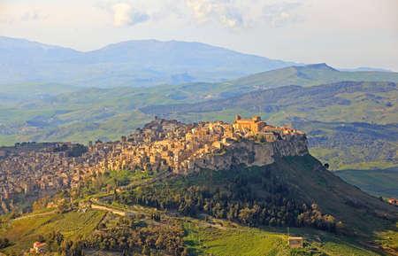 View of Calascibetta from Enna