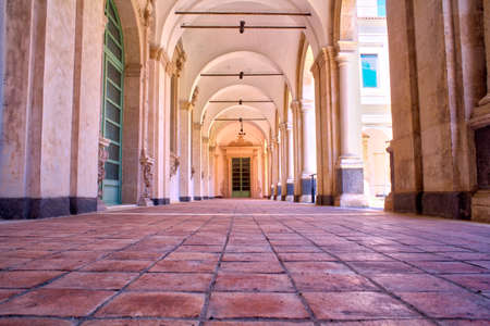 humanities: CATANIA, ITALY - MARCH, 31: The Benedictine Monastery of San Nicolò lArena is one of the largest monasteries in Europe and a UNESCO World Heritage Site and today it hosts the Department of Humanities of the University of Catania on March 31, 2016